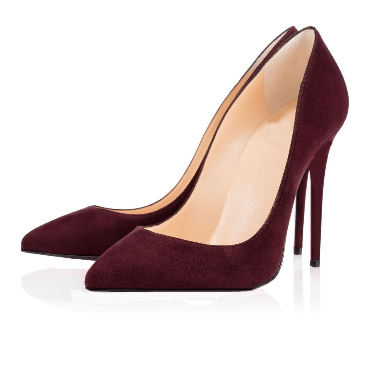 الرخيصة قيعان الحمراء الكعب العالي المرأة اللباس والأحذية 8CM 10CM 12CM فاخر مصمم الأزياء عاري أسود جلد أصابع القدم المدببة مضخات العلامة التجارية الأحذية cs09