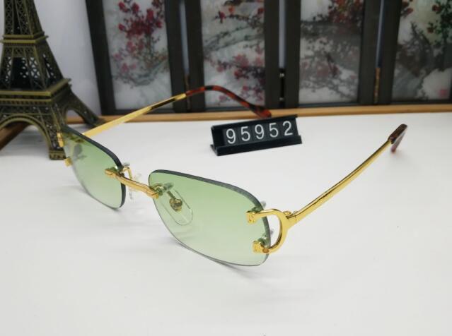 lunette Lens Giallo Sport Ovale Mens occhiali da sole di nuovo modo di occhiali da sole di corno di bufalo Vetri Con Rosso Verde Blu per le donne Buffalo Occhiali