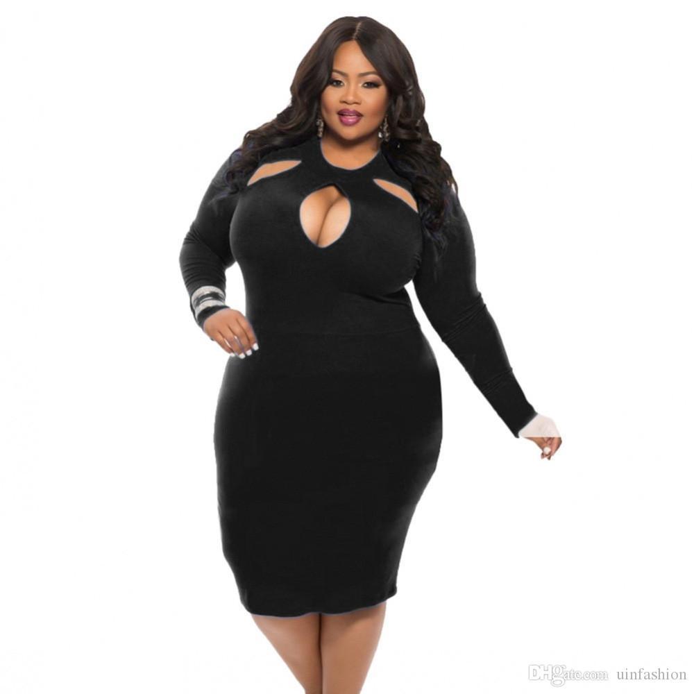Women Casual Mini Dress Summer Female Sexy Solid High Quality Midi Length Plus Size Full Sleeve Bodycon Vestidos