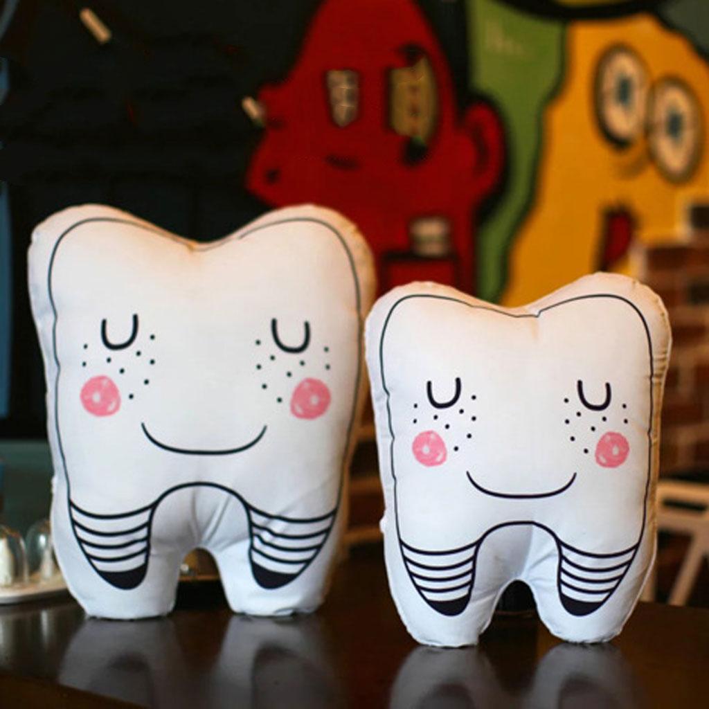 Relleno felpa suave de dientes cojín en forma de almohadilla de tiro del cabrito del niño Juego grande