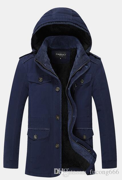 Kostenloser Versand 01 warme Jacke Herrenjacke plus Samt dicke koreanische Version der Herbst-und Wintermodelle Größe Männer lässig Windschutz