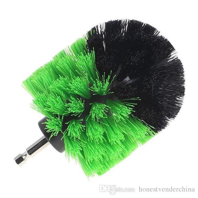 1pcs Drill Cleaning Brush Round Brush Head Power Scrubber Stiff Scrub Brush Bit Pad Bathroom Tile Tool Car Auto Accessories