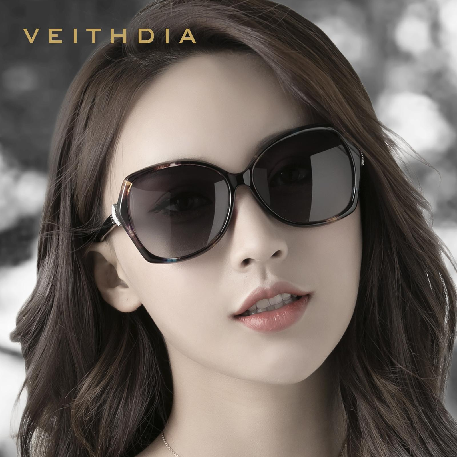 Veithdia 2019 Moda Tilki Elmas Lüks Boy Güneş Kadınlar Için Zarif ulculos De Sol Güneş Gözlükleri Shades Uv400 C19041201
