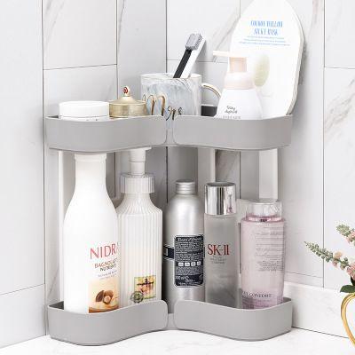 2019 Multi Function Corner Double Kitchen Bathroom Wash Basin Triangle Storage Rack Skin Care Finishing Round Design Preferred Material From Qinba