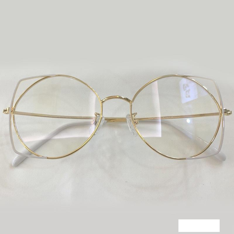 Vintage Cateye Clear Lens Glasses Womens High Fashion Eyewear