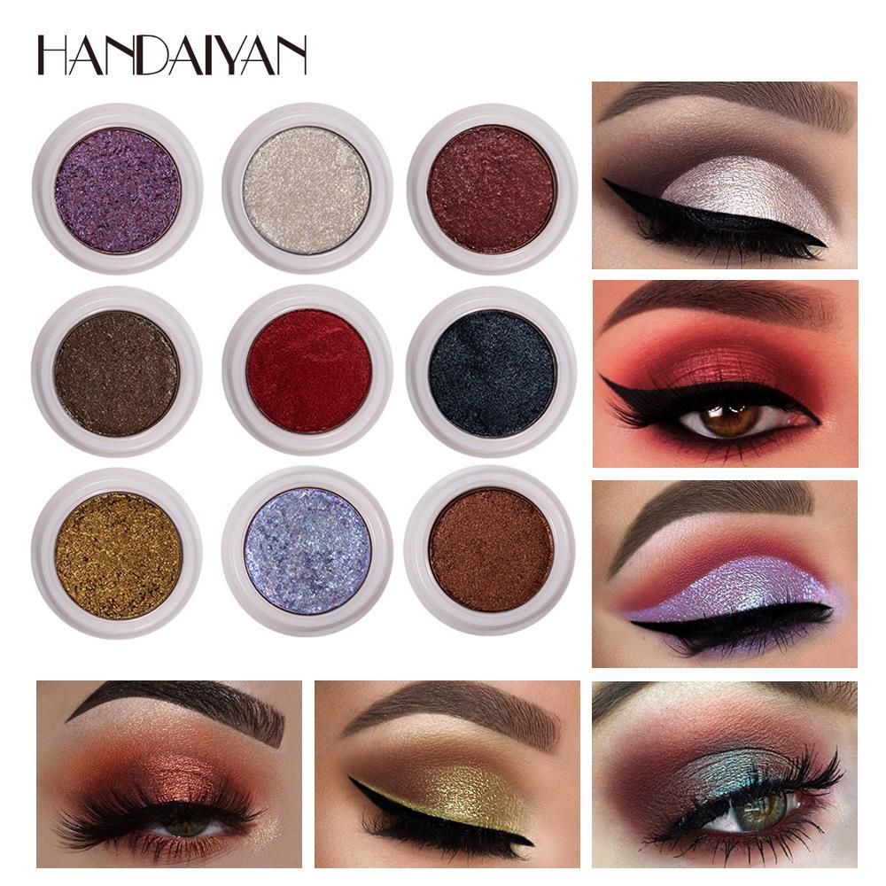 النساء بريق عينيه 2.5G 12 الألوان عاري أصباغ كريم حزب النساء سموكي عيون مسحوق ميض ظلال العيون المعدنية
