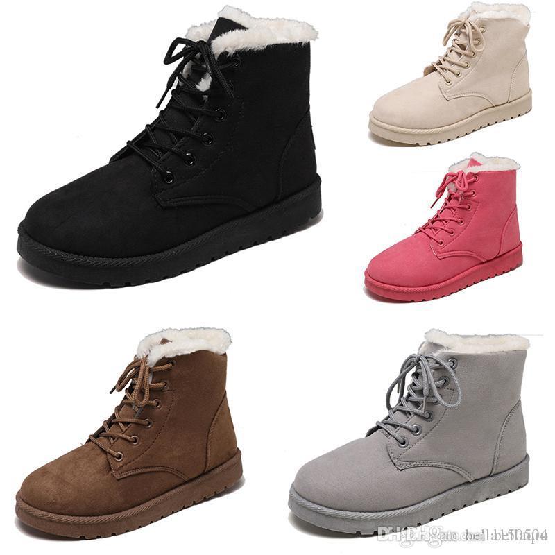 Top-Qualität Schneestiefel Winter-Leder-Frauen Australien Klassische knien halb Stiefel Stiefeletten Schwarz Grau Braun Beige Fuchsia Frauen Mädchen Schuhe