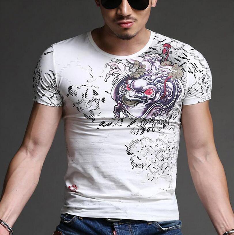 Sommer-späteste Entwurfs-edle Männer T-Shirt Straßen-Art-Männer Tops kurze Hülsen-Marken-T-Shirt Männer Luxus T-Shirt Trend