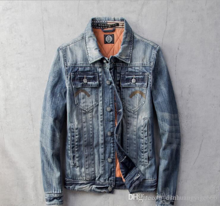otoño de mezclilla 2019 de los hombres y de los hombres de invierno de terciopelo acolchado más sencilla chaqueta de mezclilla salvaje preocupado chaqueta de cuello de la camisa delgada