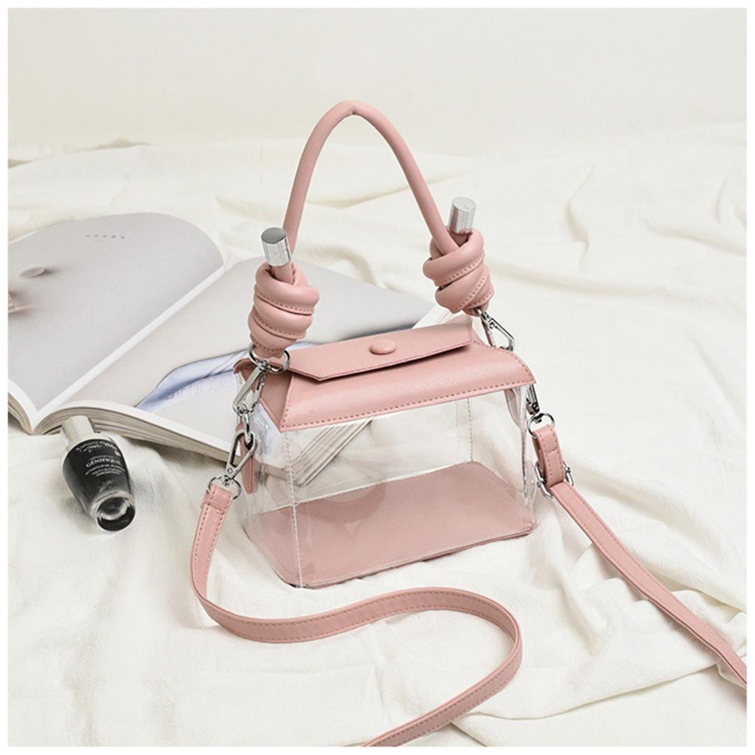Cancella PVC trasparente Box Borse a tracolla Hnadle borsa della donna in pelle tracolla sacchetto di caramelle Jelly Bag Borse