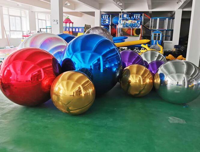 색깔 결혼식/광고를 위한 거대한 팽창식 공 Customizable 크기가 0.8M 팽창식 PVC 거울 풍선에 의하여 눈을 부시게 합니다