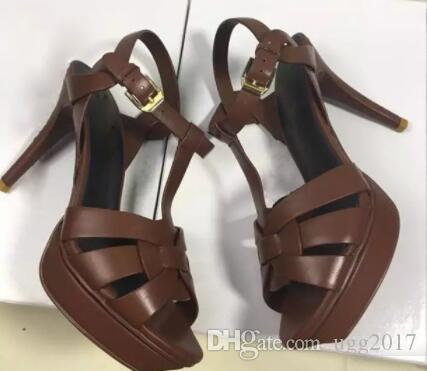 Top qualidade 2019 estilo designer de couro de salto alto das mulheres sandálias exclusivas vestido de casamento sapatos sexy marca doce cor 10 cor 8 cm