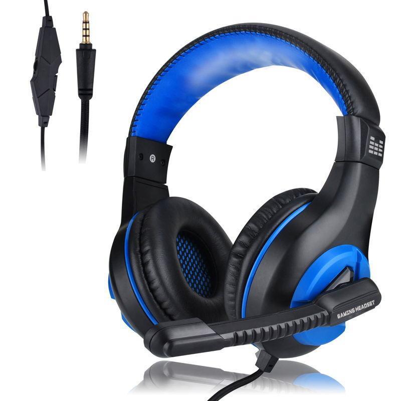 Casque Gaming Headset Deep Bass stéréo filaire gaming écouteurs avec microphone pour casque d'ordinateur portable téléphone PC