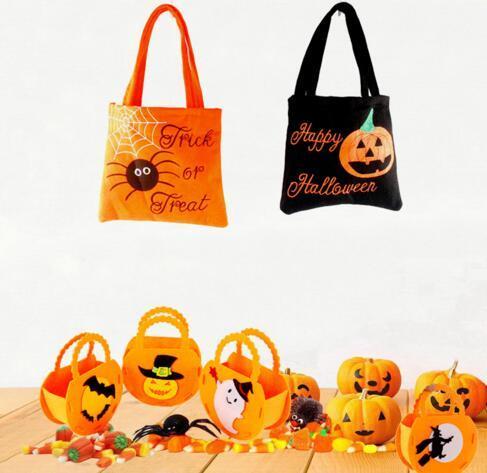 متعدد نمط الاطفال هالوين الأطفال الإبداعية حقيبة الحلوى باليد DIY حقيبة هدية غير المنسوجة