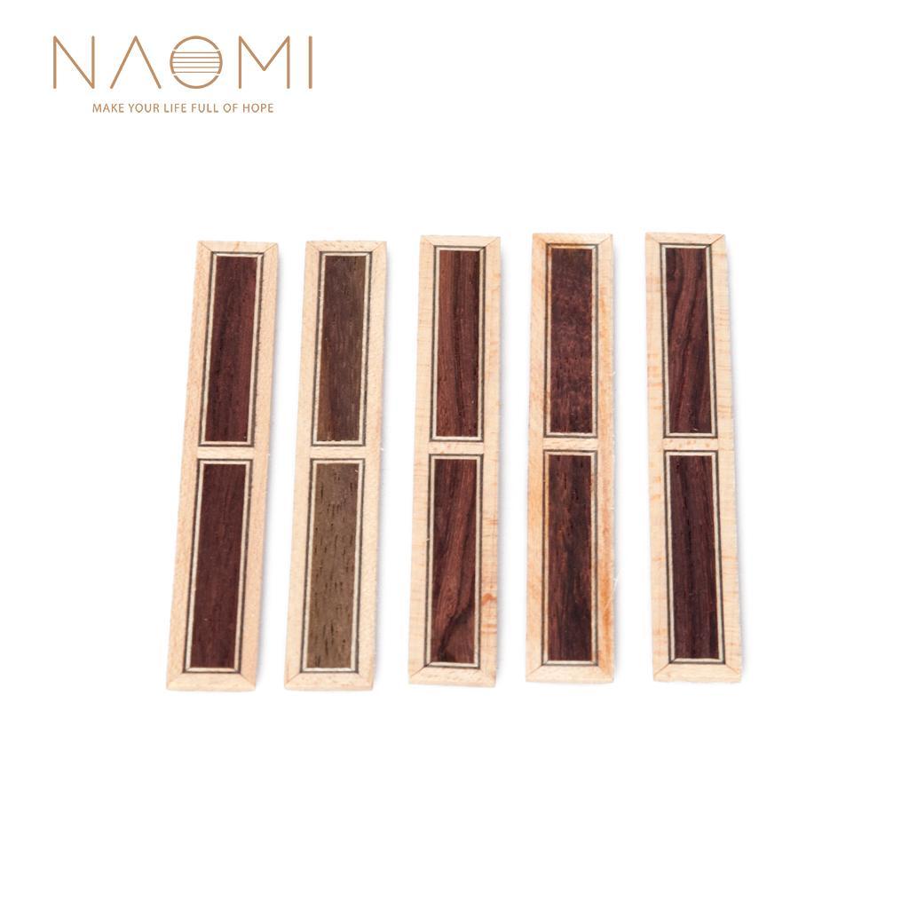 NAOMI 5 Piece 클래식 기타 브리지 타이 블레이즈 인레이 프레임 시리즈 기타 부품 액세서리 새로운 NA-02