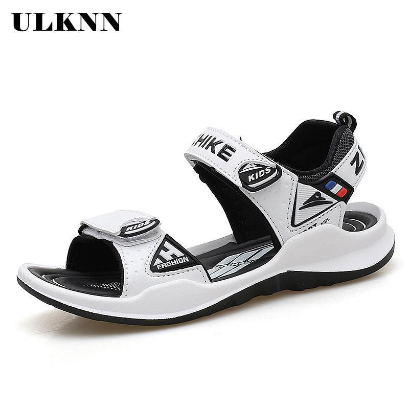 ULKNN estate Ragazzi sandali per i pattini della spiaggia dei bambini dei bambini Sandali Girls Shoes Close-Toe traspirante Cut-outs Scuola sandalias T200608