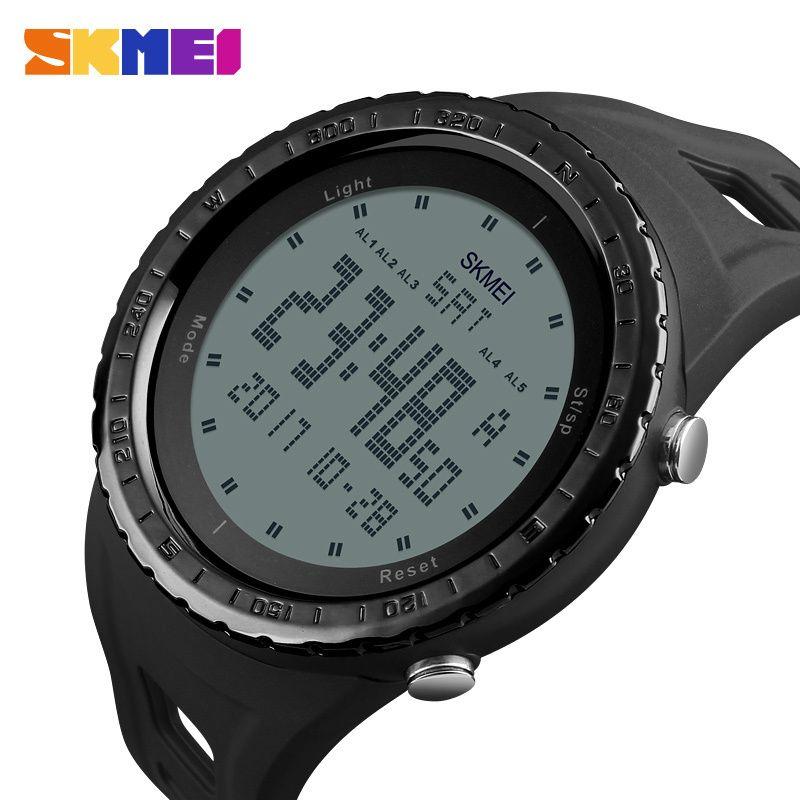 Military Watches Men Fashion Sport Watch Skmei Brand Led Digital 50m Waterproof Swim Dress Sports Outdoor Wrist Watch T190709