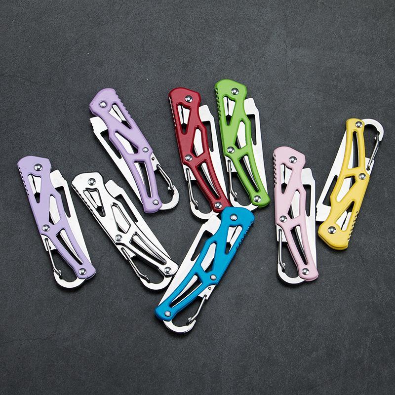 Coltello tascabile Coltello da campeggio Coltelli pieghevoli in acciaio inossidabile Edc Taglio da frutta Sopravvivenza Caccia Multi Utility Portable Colors Mix 2 5yaf1