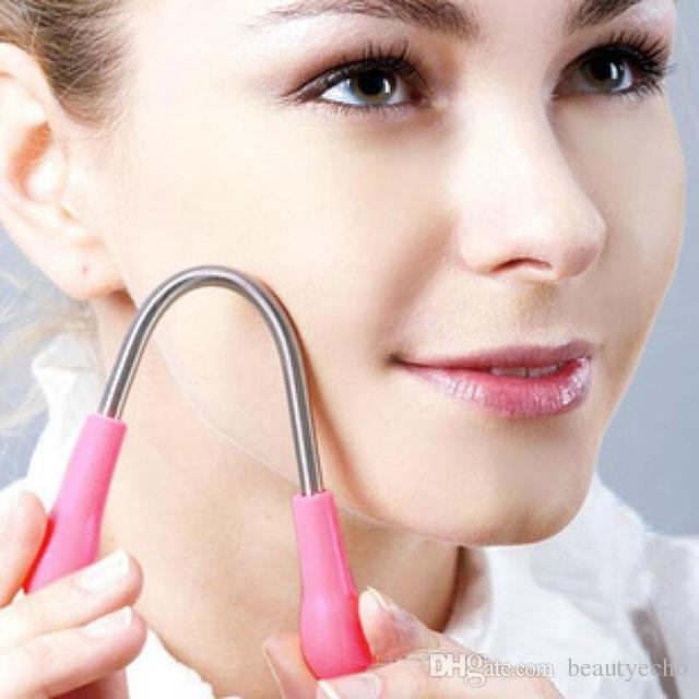 Enfrentar Dispositivo de Remoção de Pêlos Facial Micro Primavera Feminino depilação Depilador de Barbear Removedor de Creme de Cabelo Ferramentas de Levantamento de Vara AB