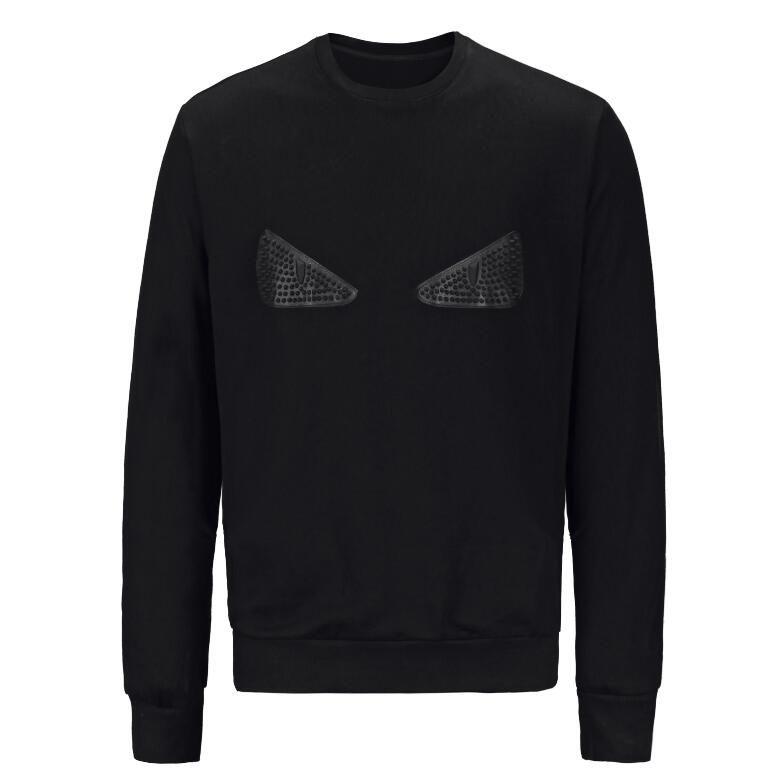 El nuevo diseñador de la camiseta con capucha Suéter de algodón de las mujeres de los hombres de moda de manga larga Negro Ojos Imprimir Pullover sudaderas Streetwear Sweatershirt