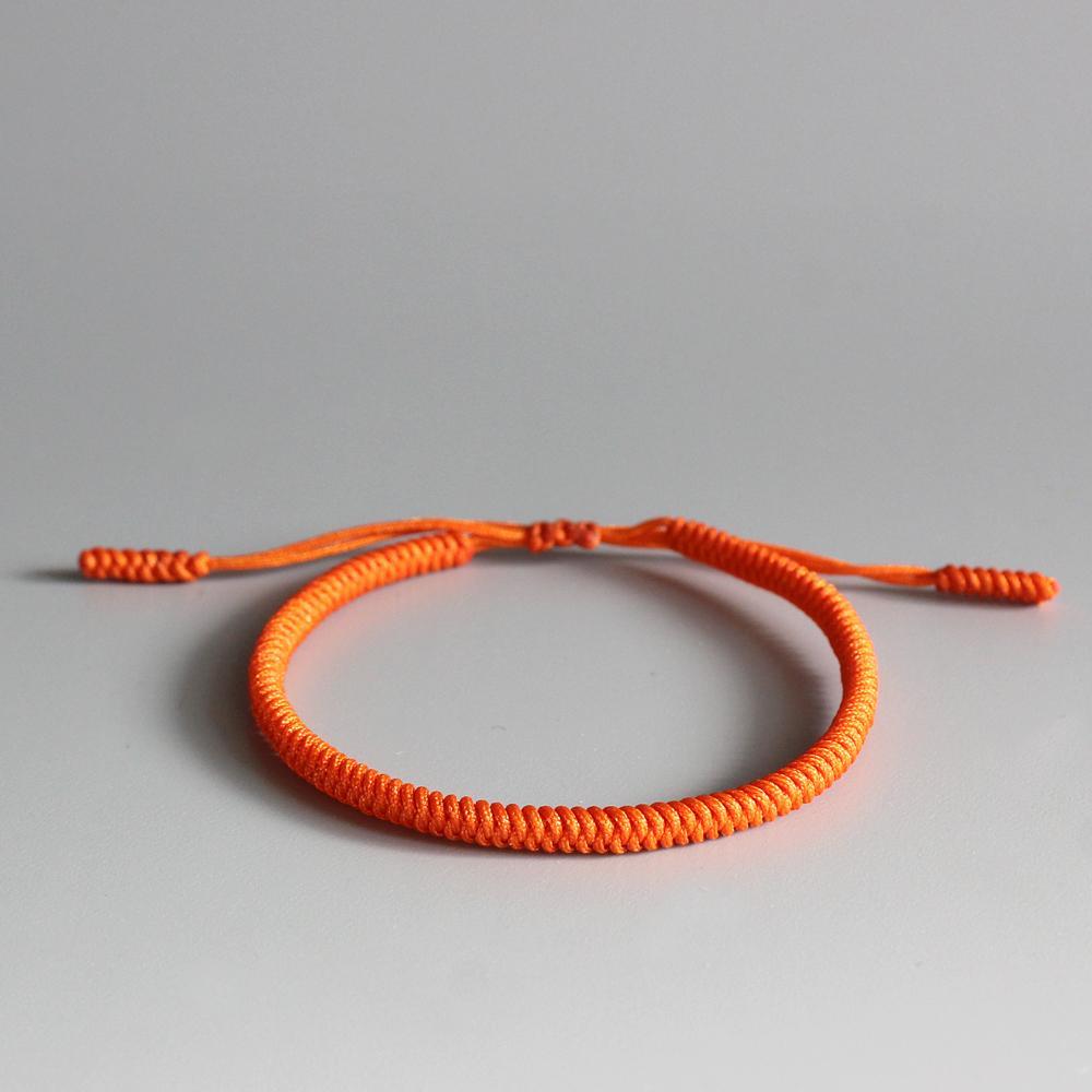yığın Zincir Bağlantı Bilezikler Orijinal Tibet Budist Good Luck Knots Halat Bilezikler El yapımı Boyut Ayarlanabilir Budizm Örgülü Ba Ne mutlu ...