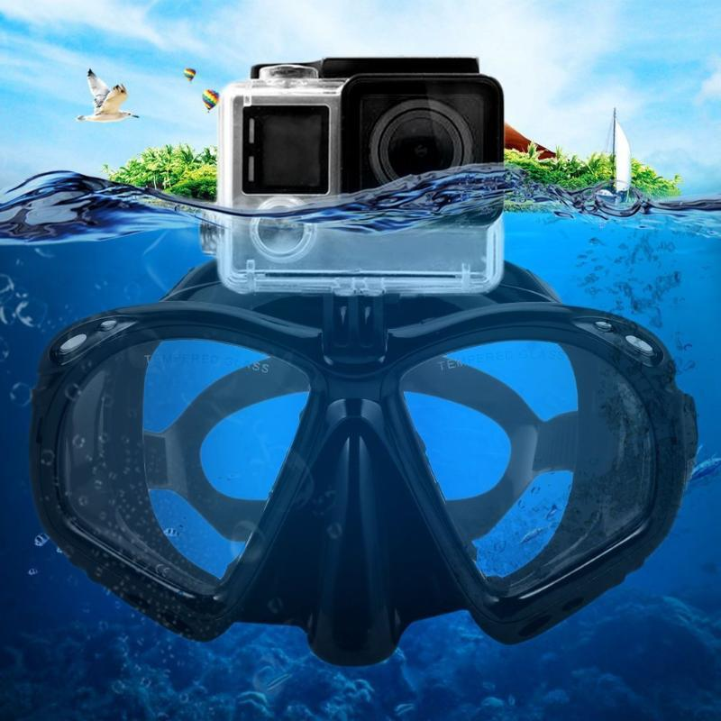 Professional Camera Underwater Diving Mask Scuba Snorkel Swimming Goggles Scuba Diving Equipement Suitable For Most Sport Camera