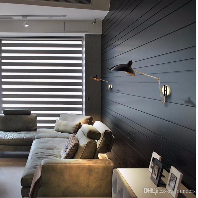 Designer Loft moderne Bras Rotatif conduit lampe de mur Cuisine Chambre Canard Creative Fer Bouche industrielle E14 mur d'éclairage Sconce
