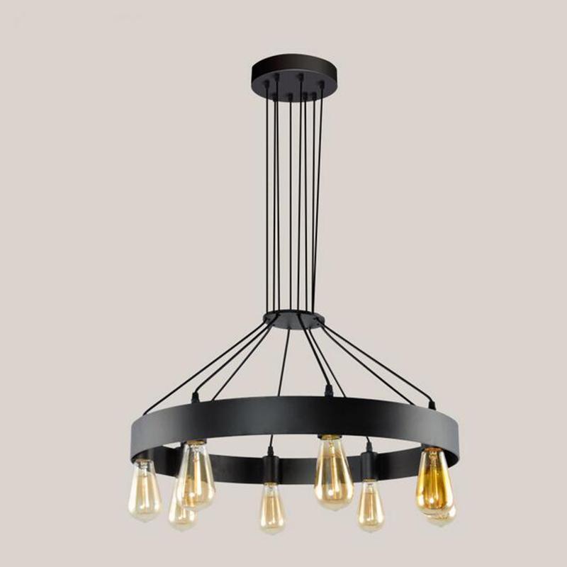 jmmxiuz Промышленные люстры висячие лампы освещения Vintage Home колеса Лампы Loft Dining Room Coffee