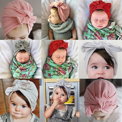 2017 Newborn bambino del bambino del ragazzo dei capretti Ragazze bowknot sveglio morbido cotone Hat Cap Beanie