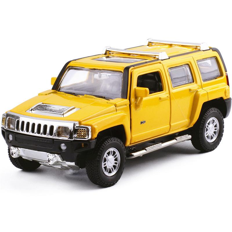 Caipo Car Model 1: 32 Hummer H3 Alloy Sound And Light Warrior Door Can Open Car CHILDREN'S Toy 89996 in Bulk