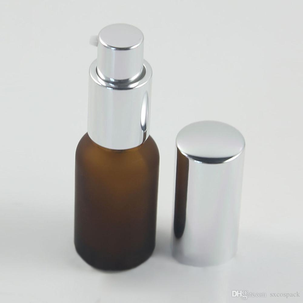 100pcs Bomba de spray Frasco com Cap Perfume Container Acessórios de Viagem 15ml de Emulsão bomba Frascos de vidro 0,5 onça