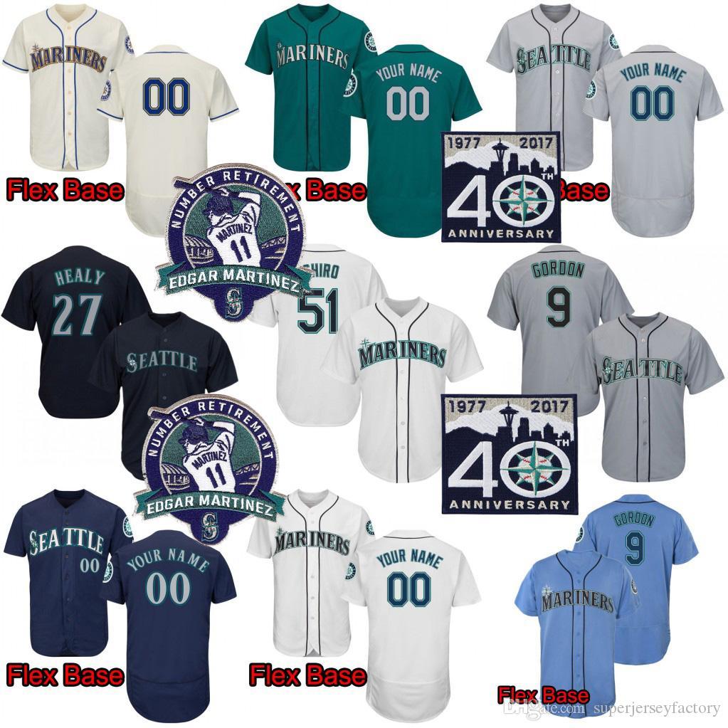 Men 51 IchiroSuzuki 24 KenGriffeyJr. 22 Robinson Cano 34 Felix Hernandez 51 Randy Johnson 11 Martinez 10 Edwin Encarnacion Baseball Jersey