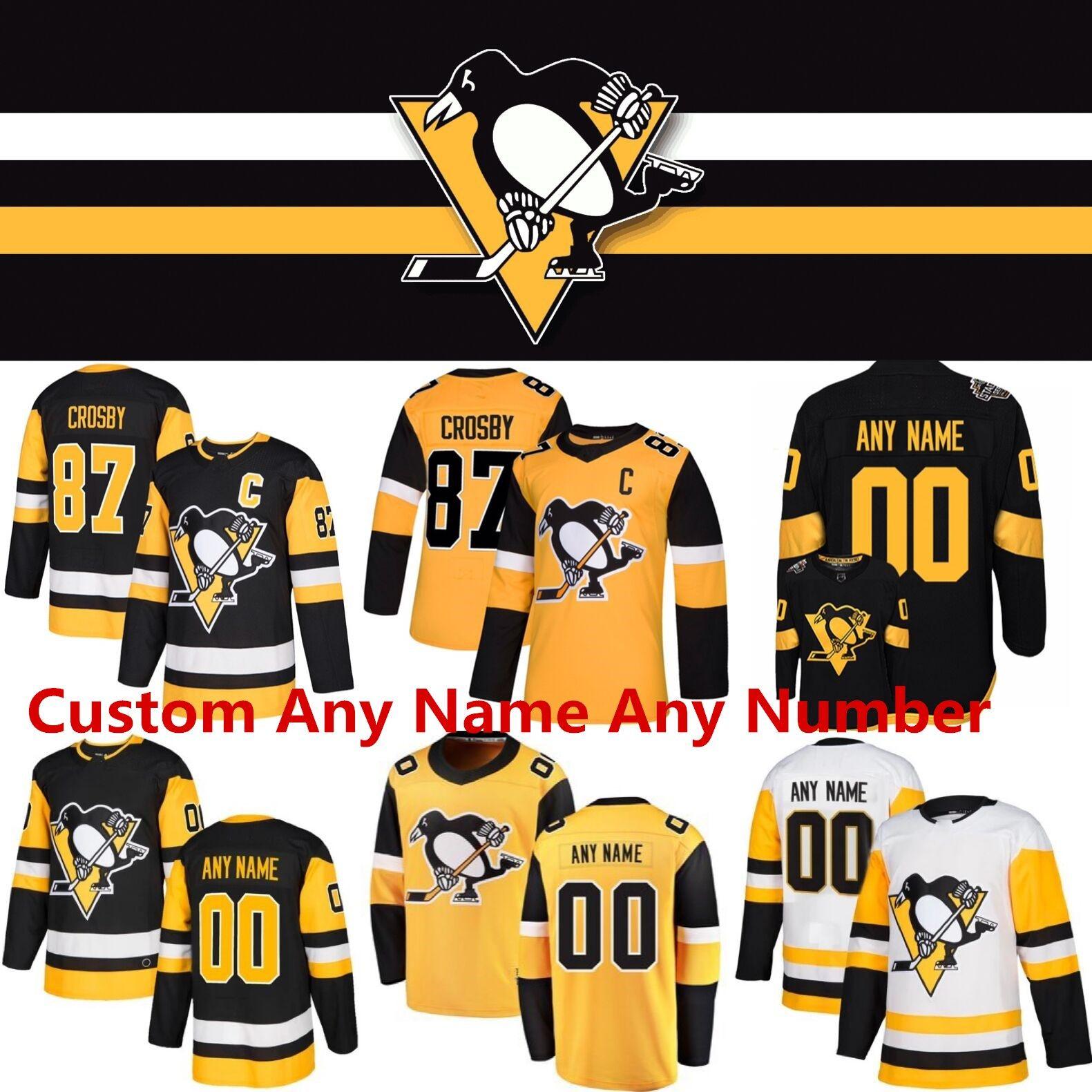 2020 Penguins de Pittsburgh Sidney Crosby 87 Evgeni Malkin Kris Letang Alex Galchenyuk Matt Murray Nick Bjugstad Jake Guentzel Hockey Maillots