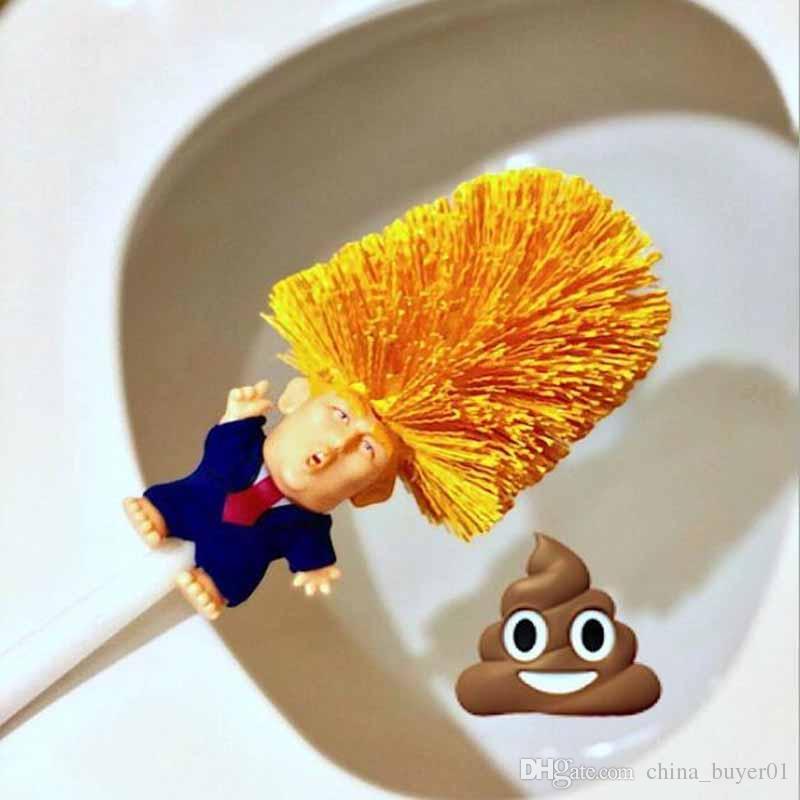 Set di spazzolini da Bagno con setole morbide plastica Brush 8 * 36 cm Dacitiery Donald Trump scopino per WC con portascopino Holder