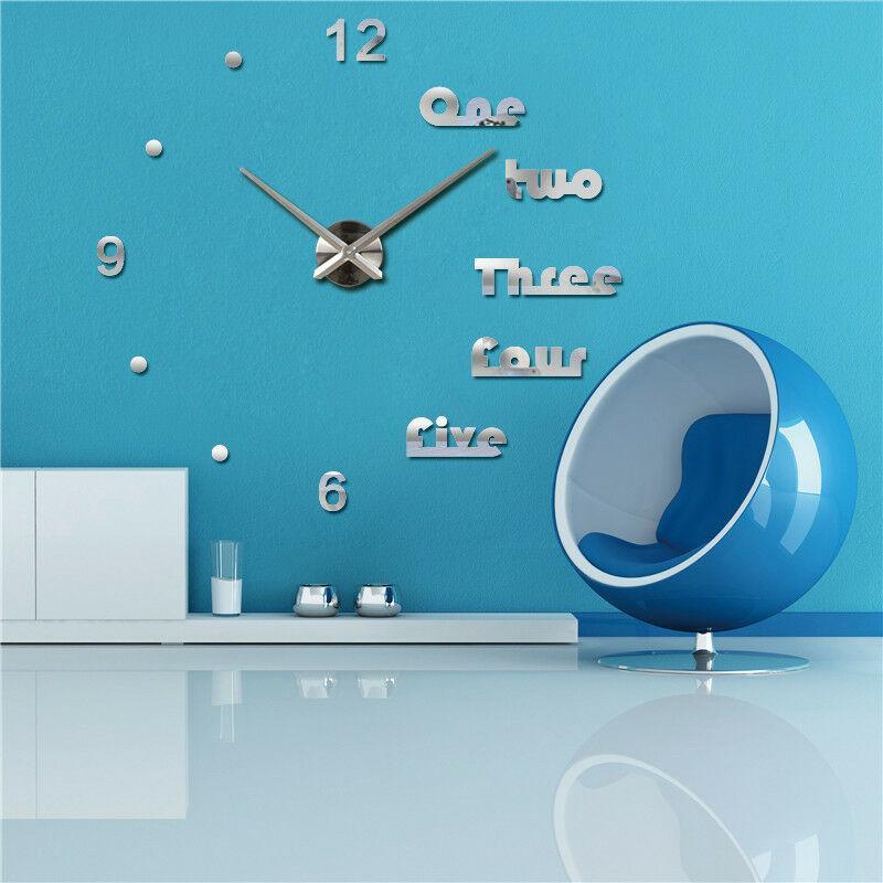 Reloj de pared 3D engomada moderna de acrílico DIY 3D innovador de la pared decorativos pegatinas J99Store