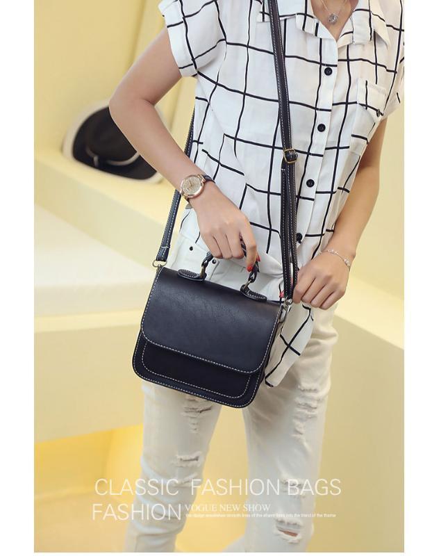 2020 novas senhoras bolsa de ombro versão coreana de moda cor sólida saco pequeno quadrado diagonal do estilo estrangeira bolsa