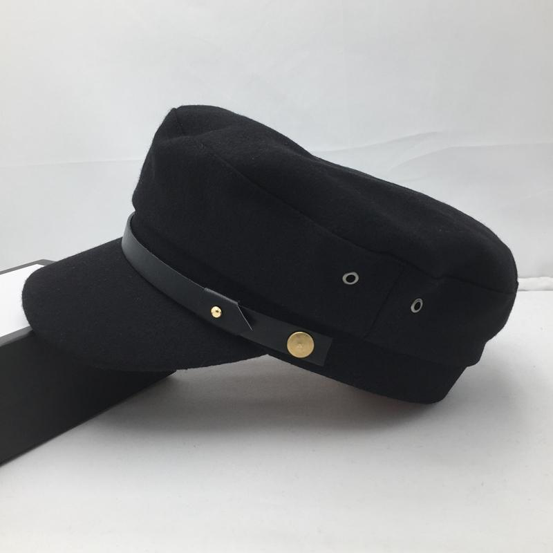 Laine, étoile de la marine dans la même ceinture noire de chapeau en Europe et le chapeau casquette chapeau femme Visières étudiant