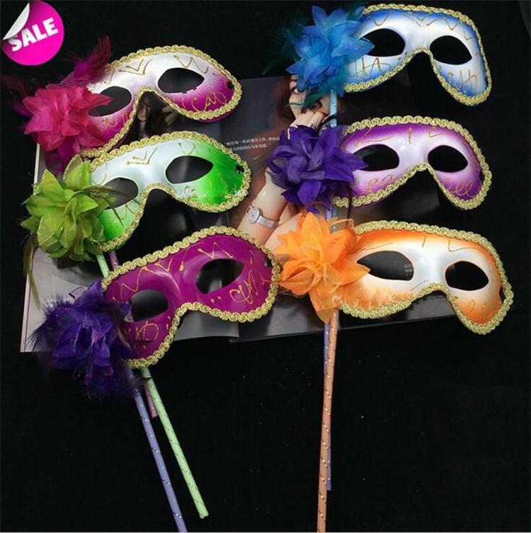 sopa Maske Seksi Cadılar Bayramı Noel dans düğün Partisi New'in 30pcs Venedikli Yarım yüz çiçek maskesi Masquerade Partisi I049 Maske