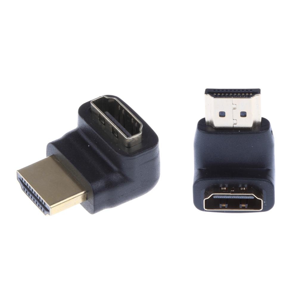 90 Degree+ 270 Degree Right Angle HDMI Male to Female HD Adapter for HDTV