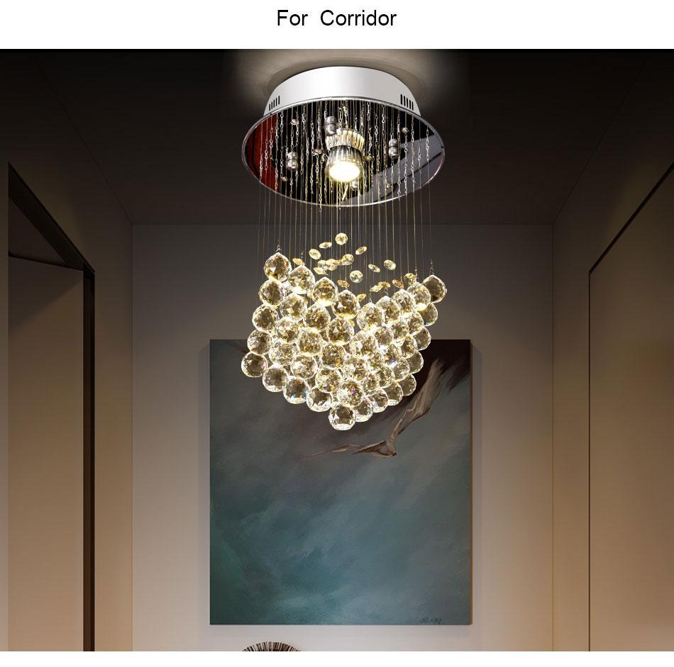 Décoration Entrée De Maison acheter cube forme cristal plafonnier pour maison entrée escalier escalier  couloir plafond suspension suspension décoration de la maison allée led