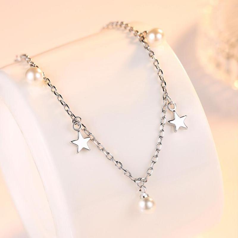 Pera pulsera circón corona elegante circón joyería flores de cristal de la perla de la pulsera de las mujeres de dama encanto Clásico