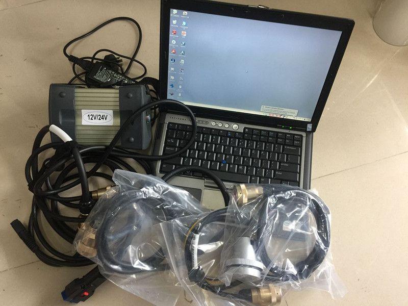 V12 / 2014 MB YILDIZ C3 Çoklayıcı Yazılımlarının kullanımına dizüstü D630 PC 4G SD Bağlan C3 araba Teşhis Aracı hazır yüklemek
