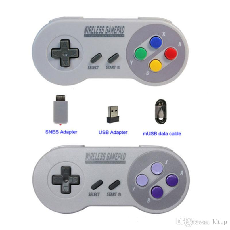 Gamepads Wireless 2.4GHZ Joypad Joystick Controller for SNES NES Classic Mini windows IOS Android raspberry pi Console remote top quality