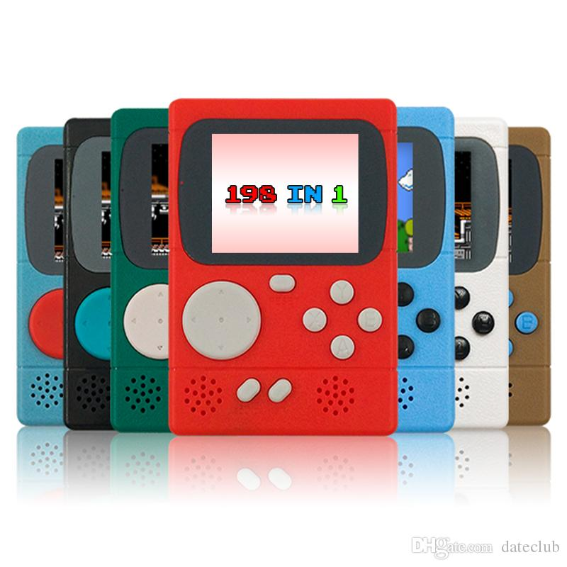 2.4 pulgadas GC36 198 Consolas de Juegos Pantalla LCD Super Mini Clásico Consola de Videojuegos Controladores Retro Guía de Navidad Regalo