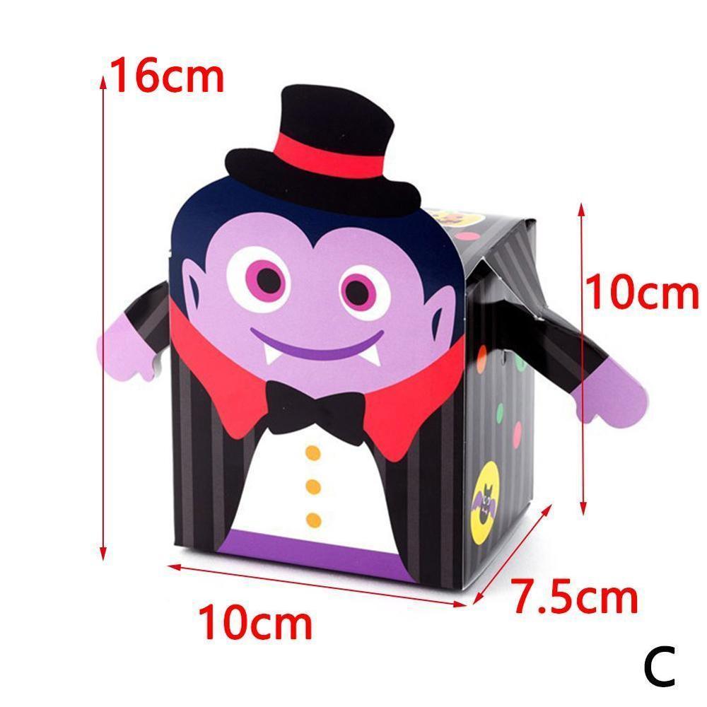 10PCS ورقة كيس الحلوى هالوين هدية مربع الكوكيز حزمة هالوين ديكور