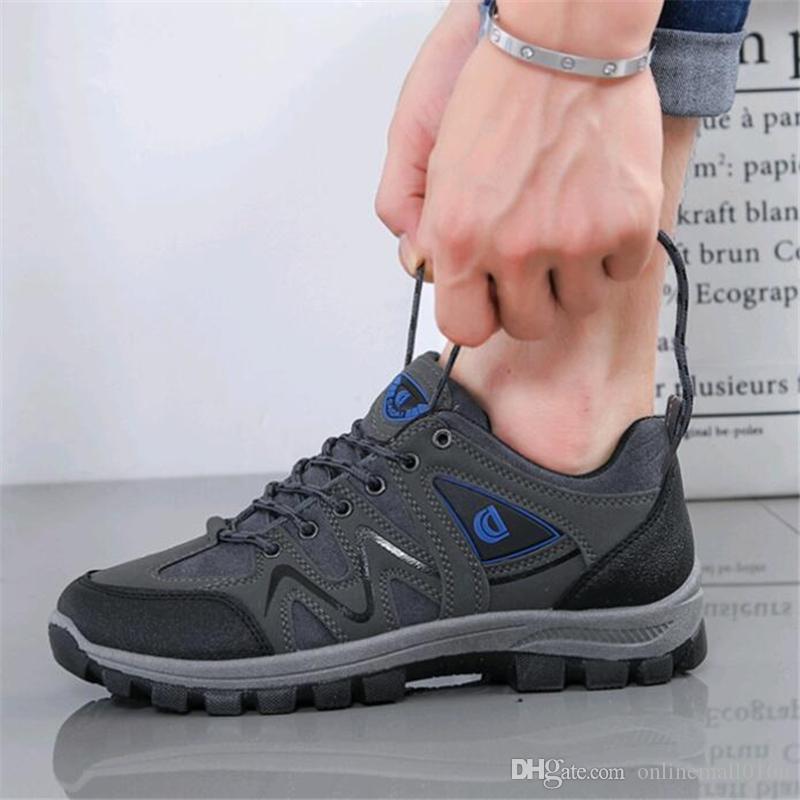 Automne Hiver Homme Chaussures De Randonnée Antidérapantes Chaussures De Voyage Imperméables Baskets Hommes En Plein Air Léger Sport Chaussures D'escalade À Pied