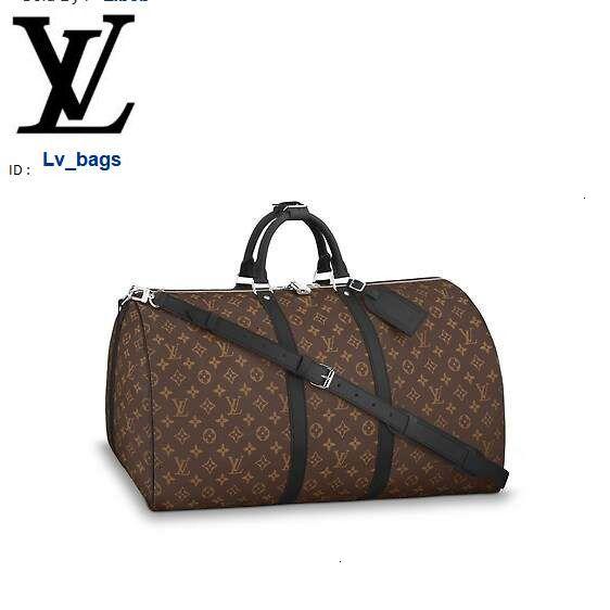 Yangzizhi New M56714 Keepall 55 Travel Bag (with Shoulder Strap) Handbags Bags Top Handles Shoulder Bags Totes Evening Cross Body Bag