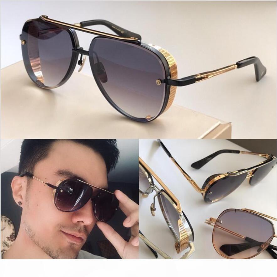 MACH SEKİZ LIMITED EDITION erkekler tasarımcı metal Vintage güneş gözlüğü moda stil oval çerçevesiz UV orijinal durumda olan 400 lens güneş gözlüğü