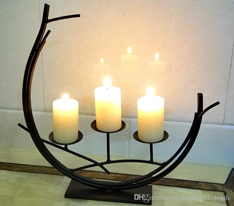 Wedding Stand Candle Holder European Romantic Dining Table Home Decoration Candlestick Candelabra Fashion Handmade Candle Holder