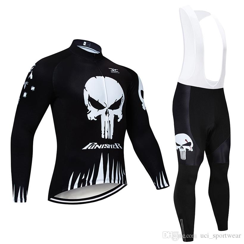 3af893097dfb8 2019 PUNISHER Winter Cycling Jersey 9D Pants Set MTB Bicycle Clothing Ropa  Ciclismo Thermal Fleece Bike ...
